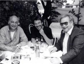 Songs an einem Sommerabend 1993, Mitte: Reinhard Mey, rechts: Ado Schlier