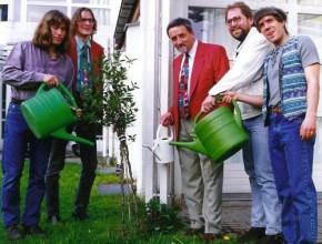 1994, Verleihung der Bayer. Umweltmedaille; v.l.: R. Wachsmann, H. Scharrer, Dr. H.Weinzierl, Vorsitzender BN Bayern, A. Wolfrum, P. Caramagno