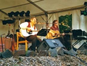 von links: Alexander Wolfrum + Eddy Gabler, 2001 Zeilbergfestival