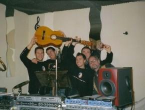 """2007 Intra-Tonstudio, Aufnahmen des """"Haspo-Songs"""""""