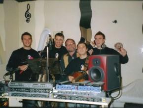 """Aufnahmen des """"Haspo-Songs"""" 2007 im Intra-Tonstudio"""