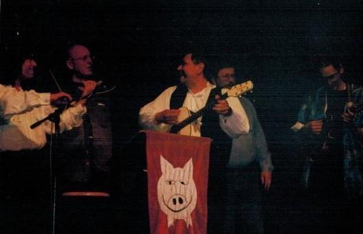 Robert Wachsmann, Jörg Ermisch (Liederjan), Reiner Rumpf, Hanzie Scharrer 2002