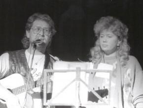 Moskau 1990, Alexander Wolfrum und Dolmetscherin im Kulturpalast