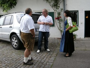 Alexander Wolfrum Ankunft Konzert Steingaden / Langau Juli 2010