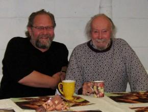 V.l. Alexander Wolfrum mit Colin Wilkie 2009 auf der alten Ziegelei in Bayreuth